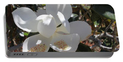 Gigantic White Magnolia Blossoms Blowing In The Wind Portable Battery Charger