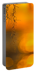 Portable Battery Charger featuring the photograph Gilded Moss by Tom Gresham