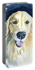Gina Golden Retriever Painting Portable Battery Charger