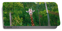 Giraffe Looking For Food During The Daytime. Portable Battery Charger