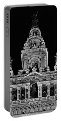 Giralda Tower In Monochrome. Seville Portable Battery Charger