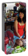 Girl In A Shop Portable Battery Charger