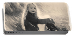 Girl In Jodpurs Portable Battery Charger