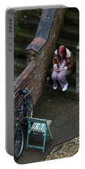 Girl On A Phone Portable Battery Charger