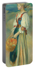 Girl With A Basket Of Oranges, Circa 1889  Portable Battery Charger
