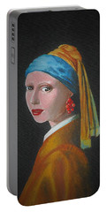 Girl With The Cranberry Earring Portable Battery Charger