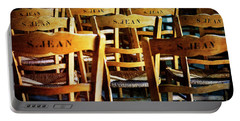 Portable Battery Charger featuring the photograph Givenry's S.jean Church Chair by Craig J Satterlee
