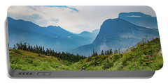 Portable Battery Charger featuring the photograph Glacier Canyon Vista by Lon Dittrick
