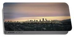 Gloden Sky On Vancouver Portable Battery Charger