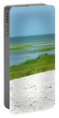 Glowing Beach Grasses Cape Cod Portable Battery Charger