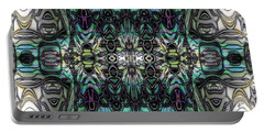 Portable Battery Charger featuring the digital art Glyph by Kiki Art