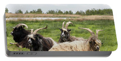 Portable Battery Charger featuring the photograph Goats  by Anjo Ten Kate