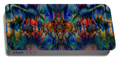 Portable Battery Charger featuring the digital art Gobsmacked by Kiki Art
