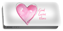 God Lives Here Portable Battery Charger