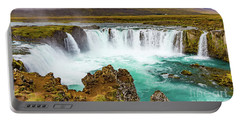 Godafoss Waterfall, Iceland Portable Battery Charger