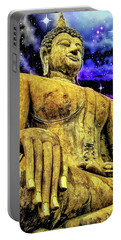 Gold Buddhist Statue Portable Battery Charger