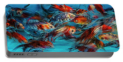 Gold Fish Abstract Portable Battery Charger