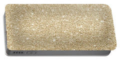 Gold Glitter Portable Battery Charger