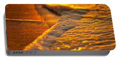 Portable Battery Charger featuring the photograph Golden Beach by Tom Gresham