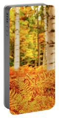Golden Ferns In The Birch Glade Portable Battery Charger