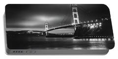 Golden Gate Bridge B/w Portable Battery Charger