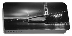 Golden Gate Bridge B/w Portable Battery Charger