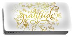 Golden Gratitude Portable Battery Charger