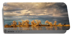 Golden Hour In The Refuge Portable Battery Charger
