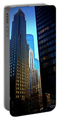 Golden Hour Reflections - City Of Chicago Portable Battery Charger