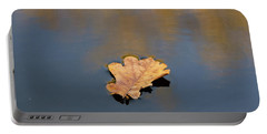 Golden Leaf On Water Portable Battery Charger