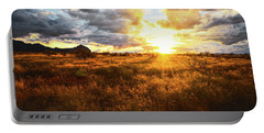 Golden Light Of Southern Arizona Portable Battery Charger