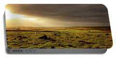 Golden Morning At Baslow Edge, Derbyshire Portable Battery Charger