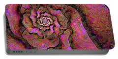 Portable Battery Charger featuring the digital art Golden Rose by Missy Gainer