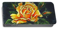 Golden Rose Sketch Portable Battery Charger