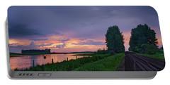 Golden Sunset Near Westlock Portable Battery Charger