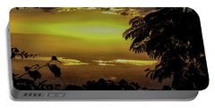 Golden Sunset On Strawberry Hill Portable Battery Charger
