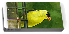 Goldfinch At The Feeder Portable Battery Charger