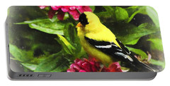 Goldfinches Love Zinnias Portable Battery Charger