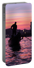 Gondolier At Sunset Portable Battery Charger