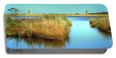 Portable Battery Charger featuring the photograph Gordon's Pond State Park Panorama by Bill Swartwout Fine Art Photography