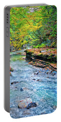 Portable Battery Charger featuring the photograph Gorge View In Fall At Watkin's Glen State Park by Lynn Bauer