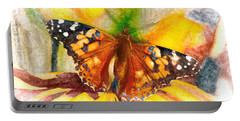 Gorgeous Painted Lady Butterfly Portable Battery Charger