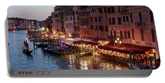 Grand Canal At Dusk - Venice, Italy Portable Battery Charger