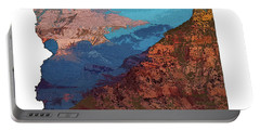 Grand Canyon In The Shape Of Arizona Portable Battery Charger