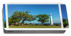 Grand Old Lighthouse Biloxi Ms Collage A1e Portable Battery Charger
