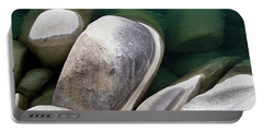 Granite Boulders At Sand Harbor Portable Battery Charger