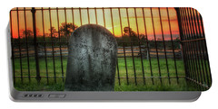 Portable Battery Charger featuring the photograph Graveyard At Dusk by Travis Rogers
