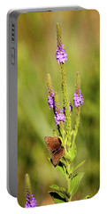 Gray Copper On Blazing Star Portable Battery Charger