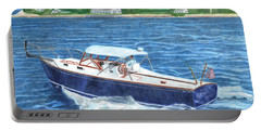Portable Battery Charger featuring the painting Great Ackpectations Nantucket by Dominic White