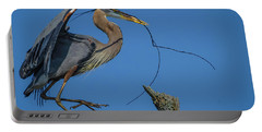 Portable Battery Charger featuring the photograph Great Blue Heron 4034 by Donald Brown